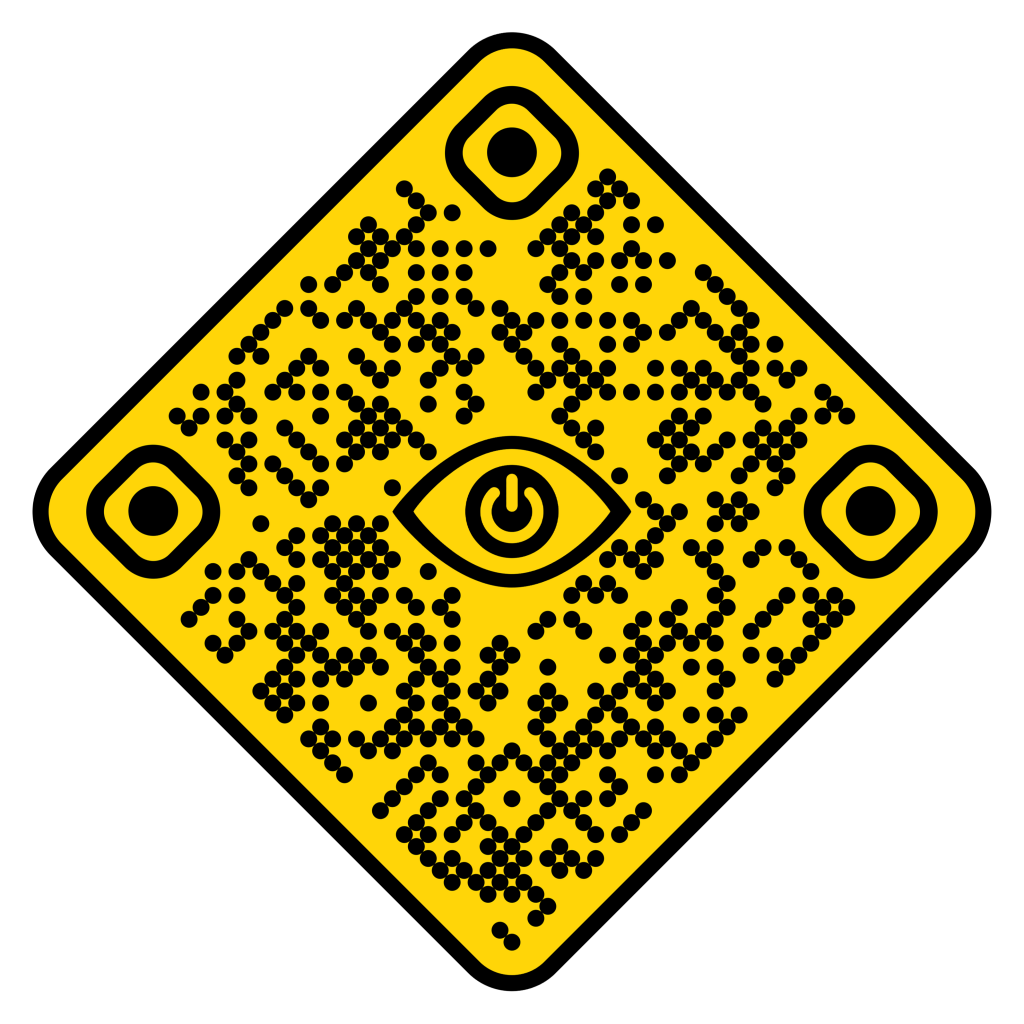 This is the QR code used to launch the Forklift Safety Blink